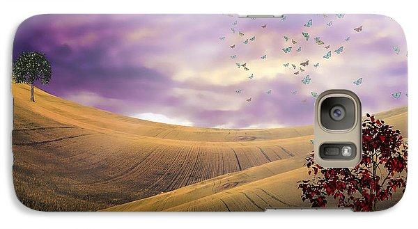 Galaxy Case featuring the digital art Serene Landscape by Bruce Rolff