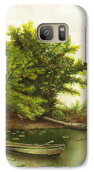 Galaxy Case featuring the painting Serene Solitude by Nan Wright