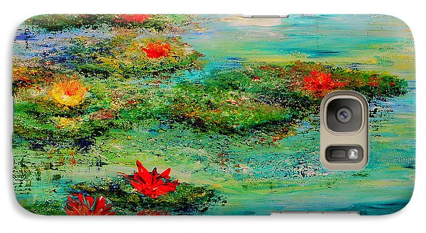 Galaxy Case featuring the painting Serene by Teresa Wegrzyn