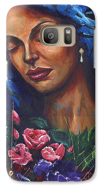 Galaxy Case featuring the painting Serenity by Alga Washington