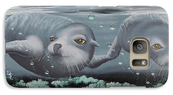 Galaxy Case featuring the painting Serenity by Dianna Lewis