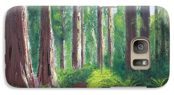 Galaxy Case featuring the painting Serenity Forest by Bev Conover