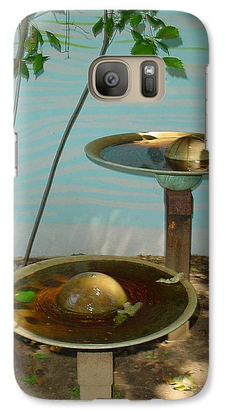 Galaxy Case featuring the photograph Serenity  Fountain by Lyric Lucas