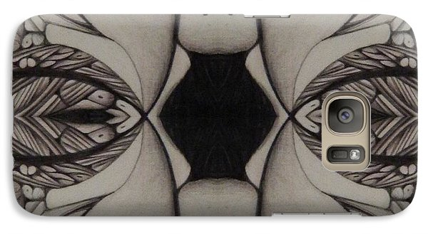 Galaxy Case featuring the drawing Serenity Image One by Jack Dillhunt