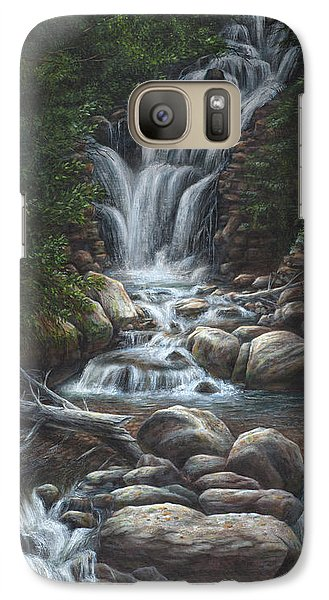 Galaxy Case featuring the painting Serenity by Kim Lockman