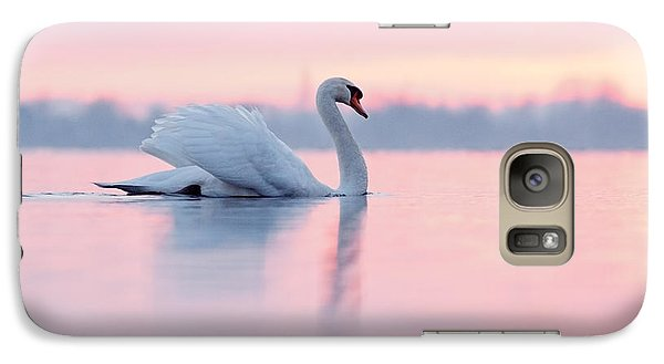 Serenity   Mute Swan At Sunset Galaxy S7 Case