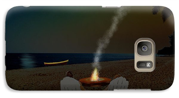 Galaxy Case featuring the digital art Serenity On The Beach by Michael Rucker