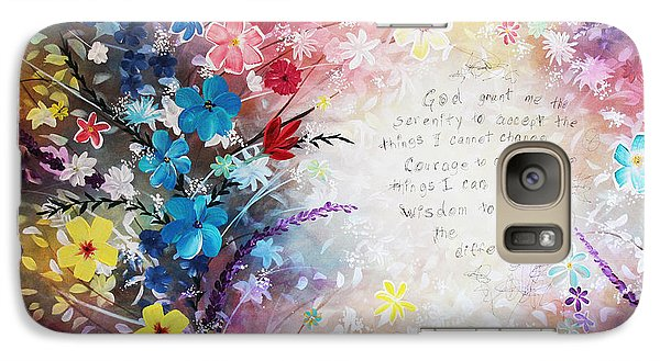 Galaxy Case featuring the painting Serenity Prayer by Patricia Lintner