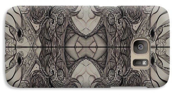 Galaxy Case featuring the drawing Serenity Series Image Three by Jack Dillhunt