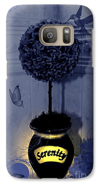 Galaxy Case featuring the photograph Serenity Topiary Glow by Margaret Newcomb