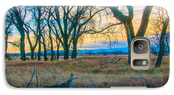Galaxy Case featuring the photograph Setting Sun At Rocky Mountain Arsenal_1 by Tom Potter
