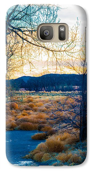 Galaxy Case featuring the photograph Setting Sun At Rocky Mountain Arsenal_2 by Tom Potter