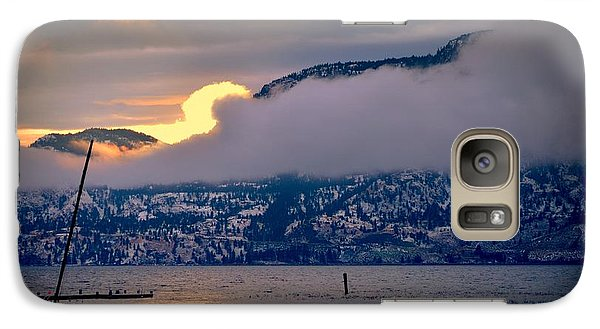 Galaxy Case featuring the photograph Setting Sun by Guy Hoffman