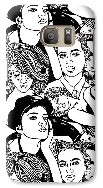 Galaxy Case featuring the painting Seven Beauties by Malinda  Prudhomme