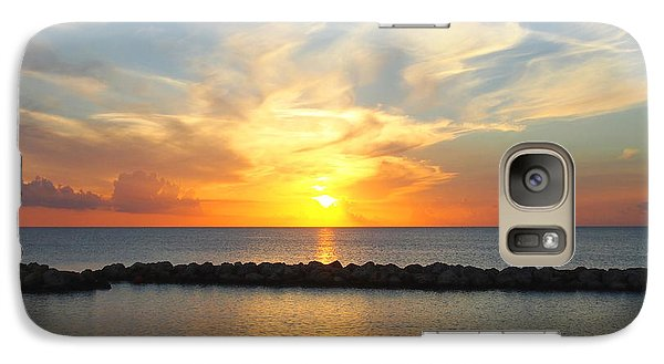 Galaxy Case featuring the photograph Seven Mile Sunset Over Grand Cayman by Amy McDaniel