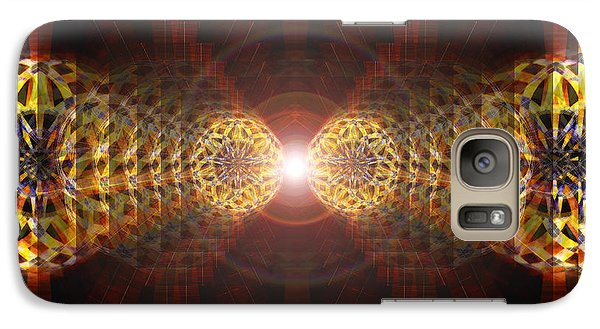 Galaxy Case featuring the drawing Seven Sacred Steps Of Light by Derek Gedney