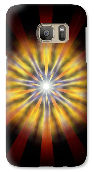 Galaxy Case featuring the drawing Seven Sistars Of Light by Derek Gedney