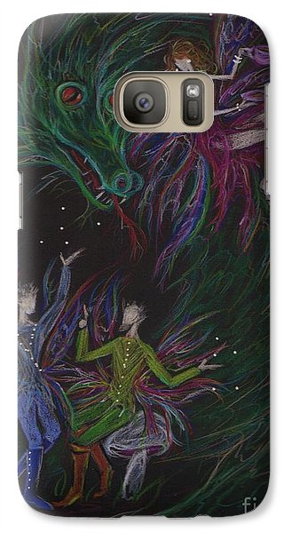 Galaxy Case featuring the drawing Severely Amused by Dawn Fairies