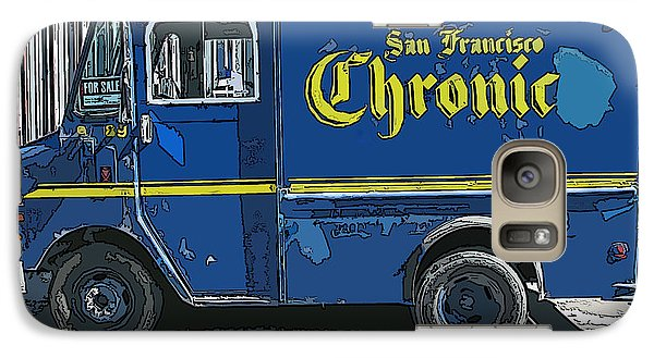 Galaxy Case featuring the photograph Sf Chronic Truck For Sale by Samuel Sheats