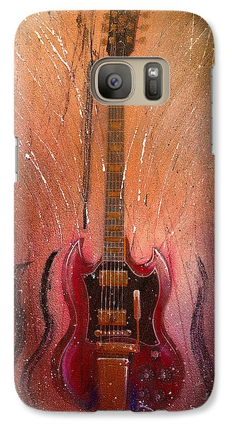 Galaxy Case featuring the painting SG by Andrew King
