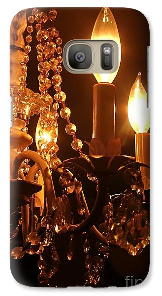 Galaxy Case featuring the photograph Shabby Chandelier Bling 2 by Margaret Newcomb