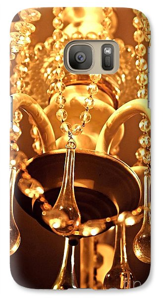 Galaxy Case featuring the photograph Shabby Chandelier Bling by Margaret Newcomb