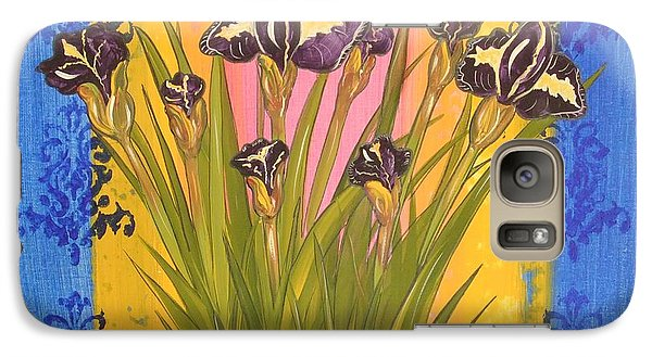 Galaxy Case featuring the painting Shabby Chic Iris by Cindy Micklos