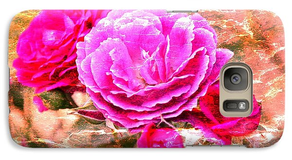 Galaxy Case featuring the photograph Shabby Chic Roses 2 by Erica Hanel