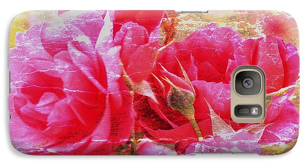 Galaxy Case featuring the photograph Shabby Chic Roses by Erica Hanel