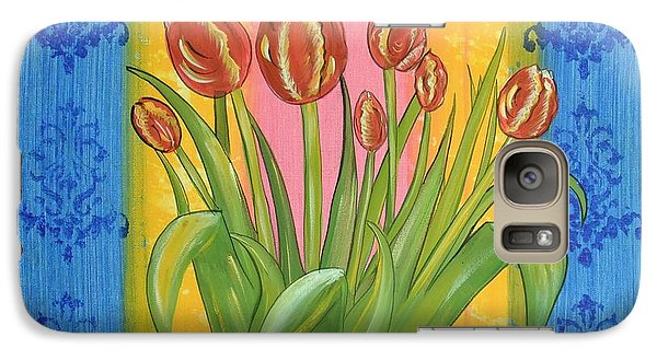Galaxy Case featuring the painting Shabby Chic Tulips by Cindy Micklos