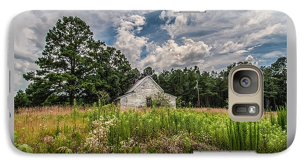 Galaxy Case featuring the photograph Shack And Field by Jim Moore
