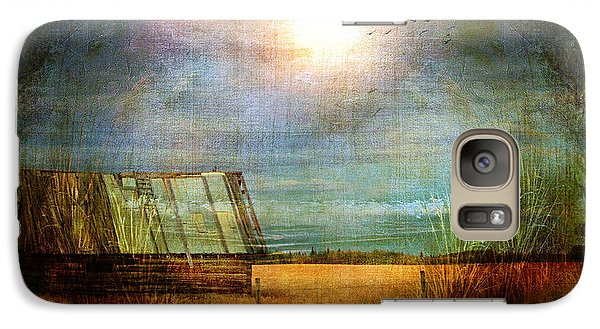 Galaxy Case featuring the photograph Shack On The Prairie Corner  by Sandra Foster
