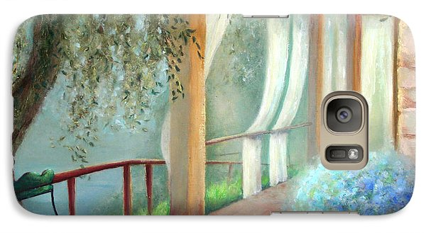 Galaxy Case featuring the painting Shade Of The Olive Tree by Michael Rock