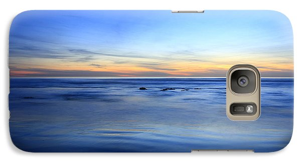 Galaxy Case featuring the photograph Rocks In Surf Carlsbad by John F Tsumas