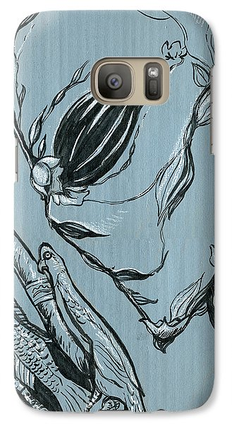 Galaxy Case featuring the drawing Shades Of Grays Two by John Ashton Golden