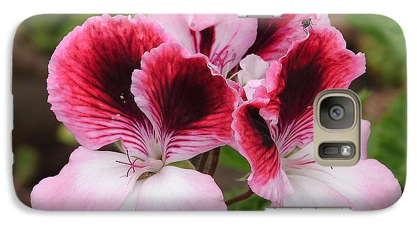 Galaxy Case featuring the photograph Shades Of Pink 2 by Lew Davis