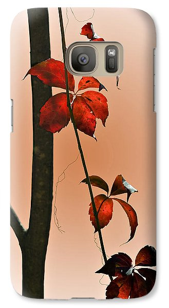 Galaxy Case featuring the photograph Shades Of Red by Judy  Johnson