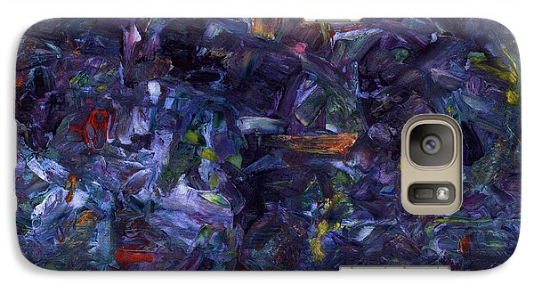 Galaxy Case featuring the painting Shadow Blue Square by James W Johnson