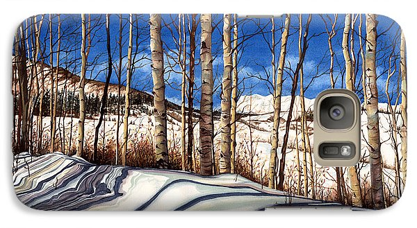 Galaxy Case featuring the painting Shadow Dance by Barbara Jewell