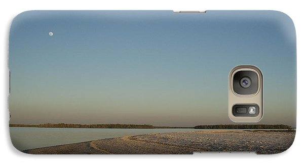 Galaxy Case featuring the photograph Shadow Moon by Robert Nickologianis