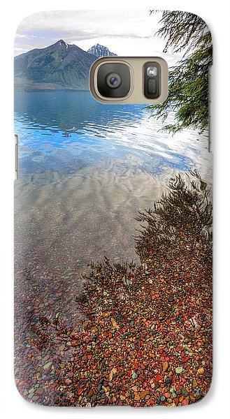 Galaxy Case featuring the photograph Shadow Pebbles by David Andersen