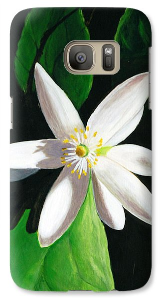 Galaxy Case featuring the painting Shadow Play by Janet Greer Sammons