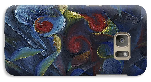 Galaxy Case featuring the painting Shadowboxing by Tiffany Davis-Rustam