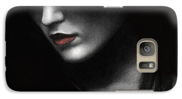 Galaxy Case featuring the painting Shadowed In My Mind by Pat Erickson