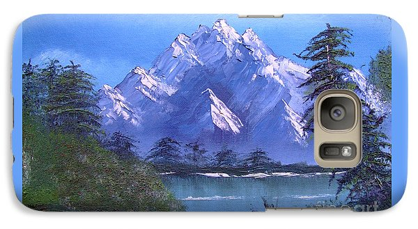 Galaxy Case featuring the painting Shadowed Mountain Lake by Marianne NANA Betts