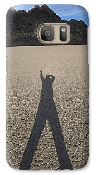 Galaxy Case featuring the photograph Shadowman by Joe Schofield
