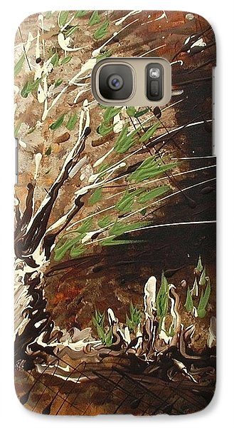 Galaxy Case featuring the painting Shadows by Holly Carmichael