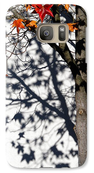 Galaxy Case featuring the photograph Shadows Of Fall by CML Brown