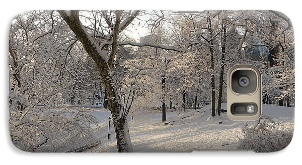 Galaxy Case featuring the photograph Shadows On Snow by Winifred Butler