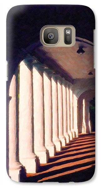 Galaxy Case featuring the digital art Shadows University Of Virginia by Spyder Webb